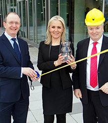 Pat Gaughan, Chair, BIFM Ireland Region with Ann Marie Grealish, Billing Manager, OCS and Des Maguire, Managing Director, Tech Skills Resources.