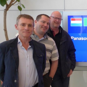 Vincent Mahony, Panasonic with Mick O'Shea, Mick O'Shea Heating & Plumbing and Shane Duffy, Heat Merchants