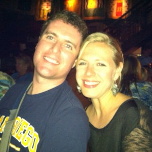 Liam and Alayne enjoying a night out in Boston